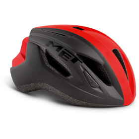 MET Strale Casco, black/red panel